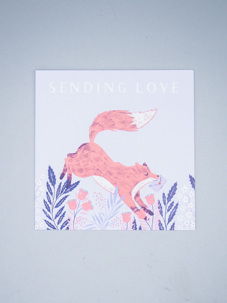Sending Love Fox Card