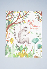 You're My Main Squeeze Lemur Card