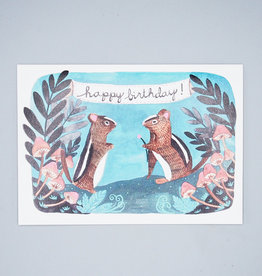 Happy Birthday Chipmunk Card