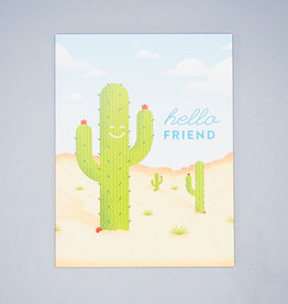 Hello Friend Cactus Card