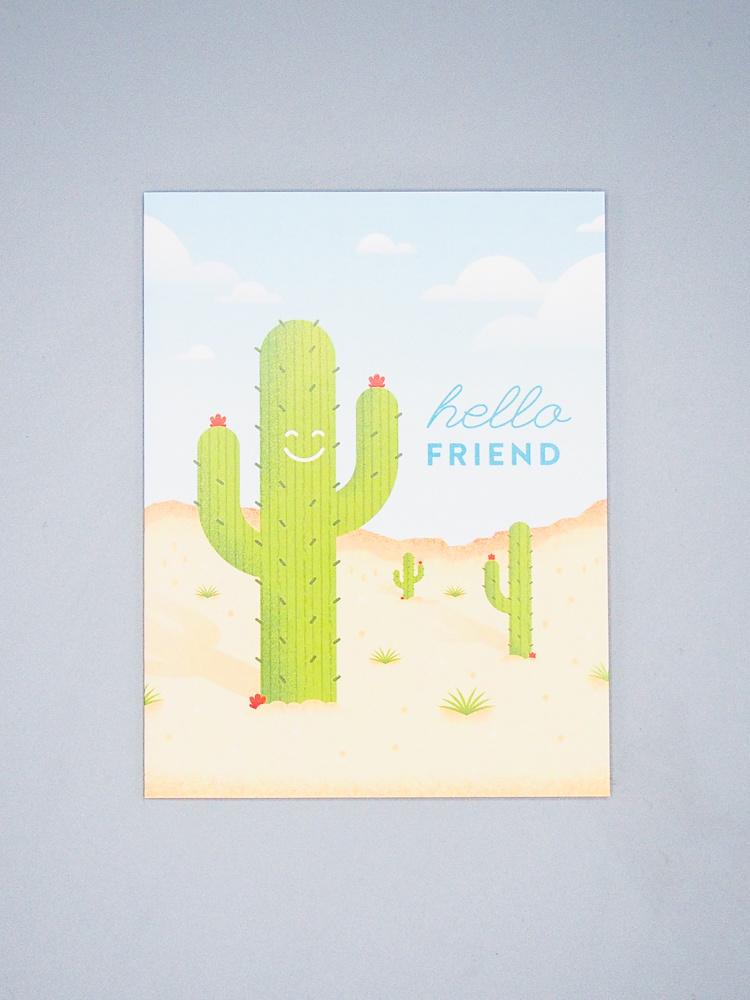 Hello Friend Cactus Card