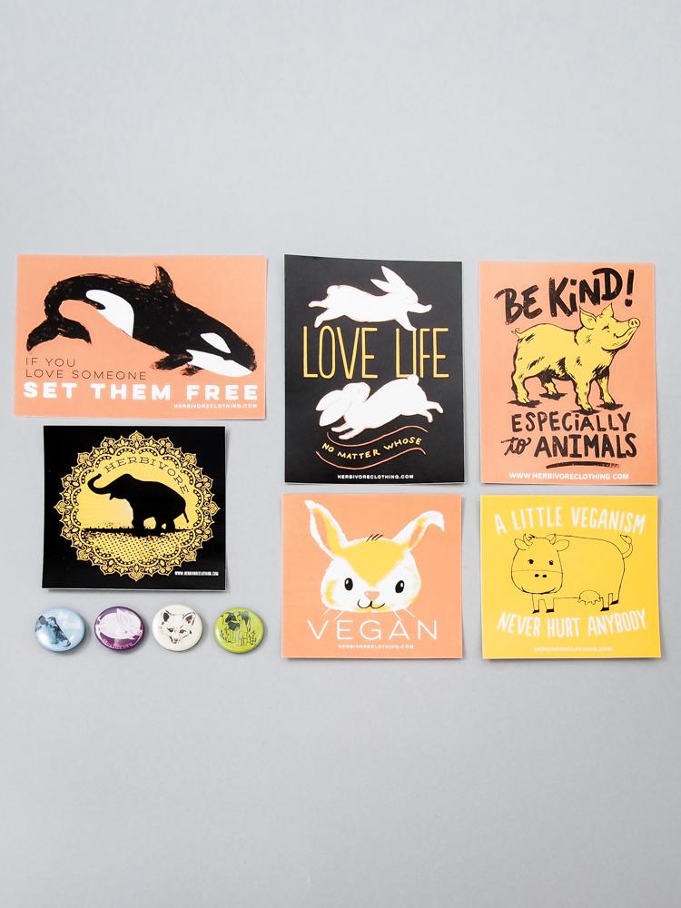 Animal Lover Sticker/Button Set!