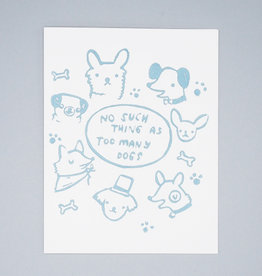 Too Many Dogs Card