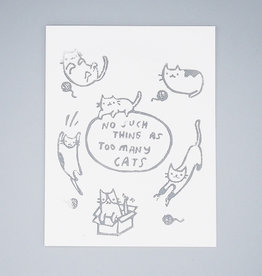 Too Many Cats Card