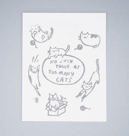 Too Many Cats Card