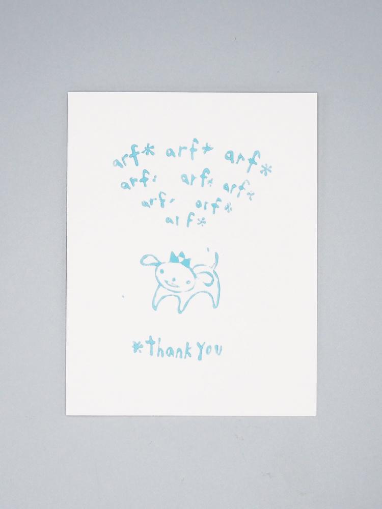 Arf Arf Thank You Card