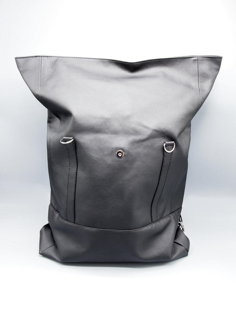 Wanderlust Roll Top Backpack by Lee Coren in Jet Black