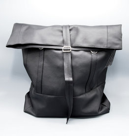 Wanderlust Roll Top Backpack by Lee Coren in Jet Black