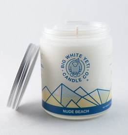 Big White Yeti 8oz Jar Candle Nude Beach