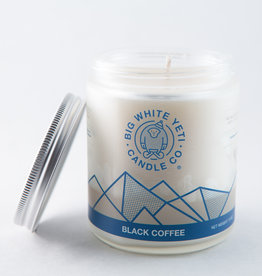 Big White Yeti 8oz Jar Candle Black Coffee