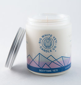 Big White Yeti 8oz Jar Candle Sexytime Yeti