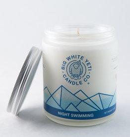 Big White Yeti 8oz Jar Candle Night Swimming