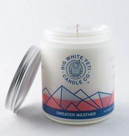 Big White Yeti 8oz Jar Candle Sweater Weather
