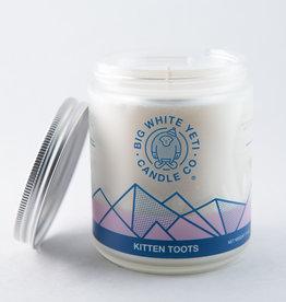 Big White Yeti 8oz Jar Candle Kitten Toots