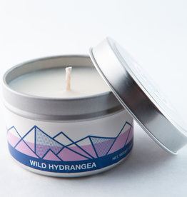 Big White Yeti Candle Wild Hydrangea