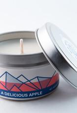 Big White Yeti Candle Delicious Apple
