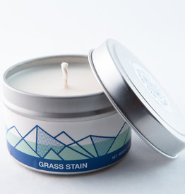 Big White Yeti Candle Grass Stain