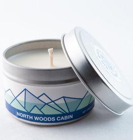 Big White Yeti Candle North Woods Cabin