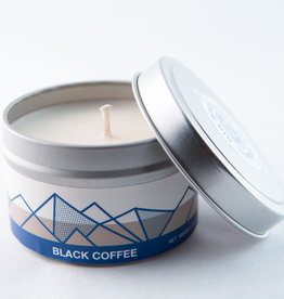 Big White Yeti Candle Black Coffee