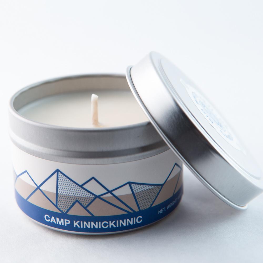 Big White Yeti Candle Camp Kinnickinnic