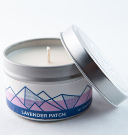 Big White Yeti Candle Lavender Patch