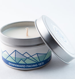 Big White Yeti Candle Downward Facing Yeti