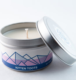 Big White Yeti Candle Kitten Toots