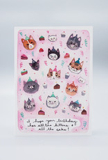 All The Cats Birthday Card