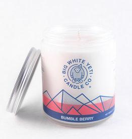 Big White Yeti 8oz Jar Candle Bumble Berry