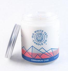 Big White Yeti 8oz Jar Candle Cinnamon Chai