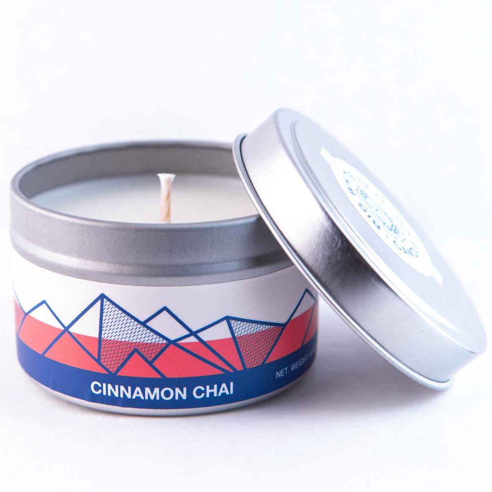 Big White Yeti Candle Cinnamon Chai