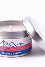 Big White Yeti Candle Bumble Berry