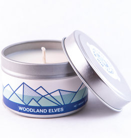 Big White Yeti Candle Woodland Elves