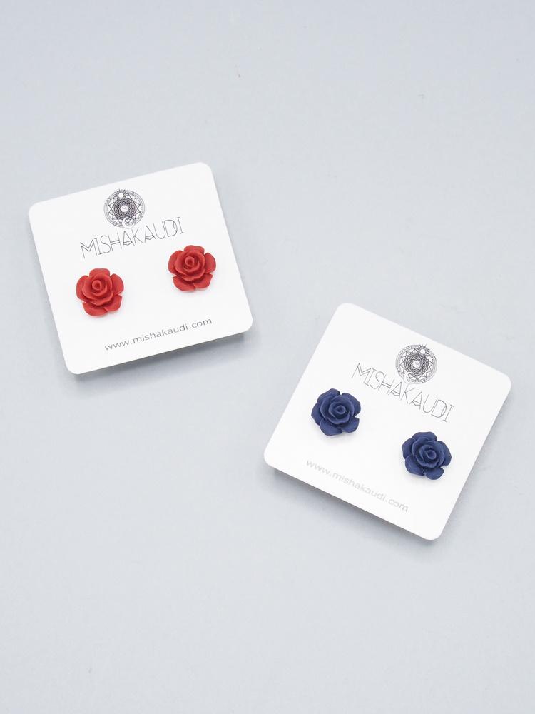 Mishakaudi Rose Post Earrings