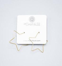 Gold Star Hoop Earring by Mishakaudi
