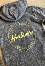 Herbivore Logo Eco-Fleece Zip-Up Hoodie