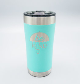 Be Kind Umbrella Insulated Tumbler Turquoise