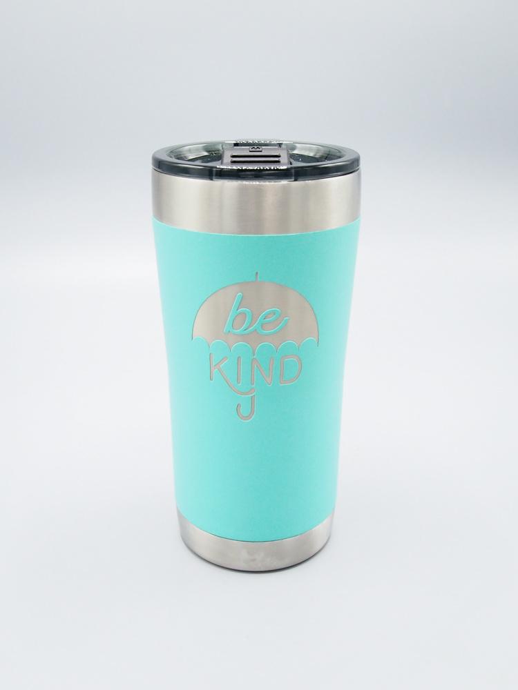 Be Kind Umbrella Insulated Tumbler Turquoise