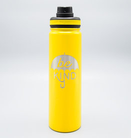 Be Kind Umbrella Insulated Water Bottle Yellow