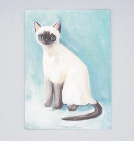 Alistair Siamese Cat Card