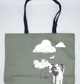 Jalapenjo Brushed Denim Cow Hugger Tote