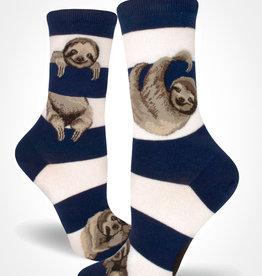 Sloth Stripe Women's Crew Sock from Mod Socks