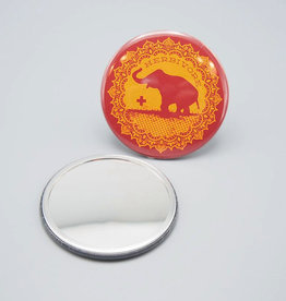Good Luck Elephant Pocket Mirror