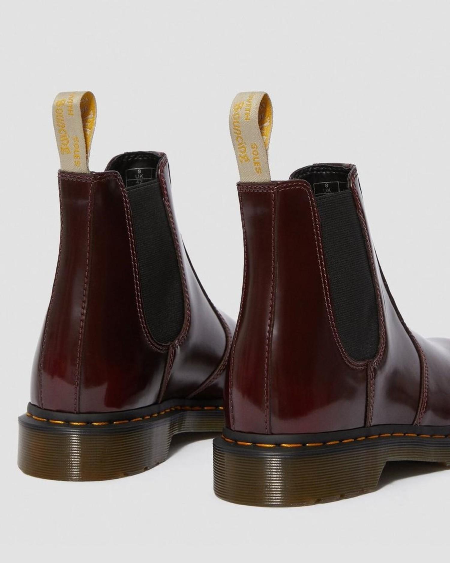 Vegan 2976 Chelsea Boot in Cherry Red
