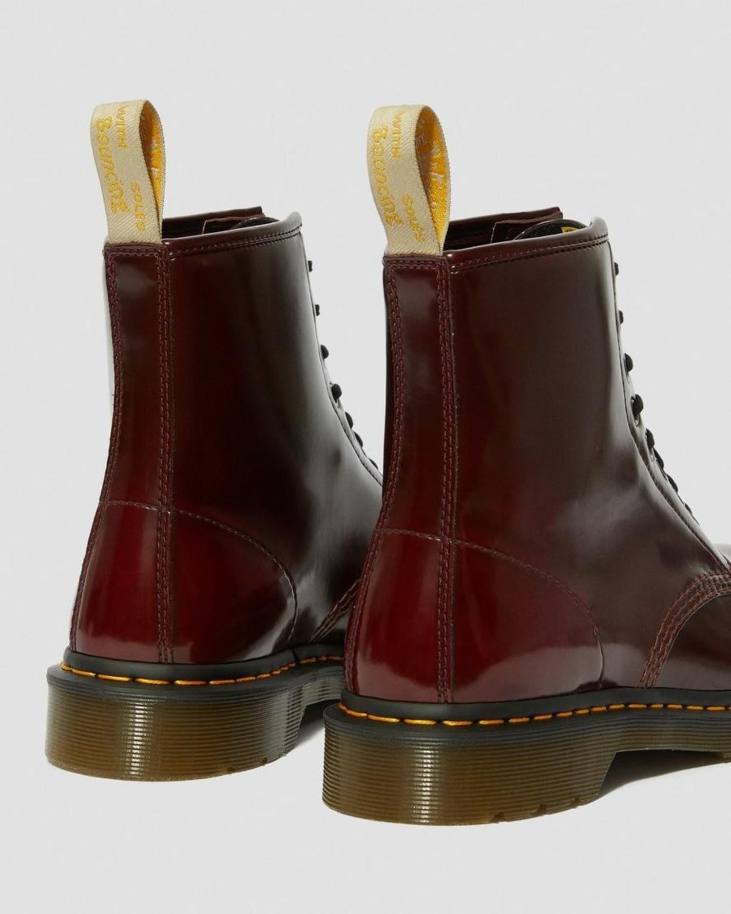 Vegan 1460 (8 Eye) Boot in Cherry Red