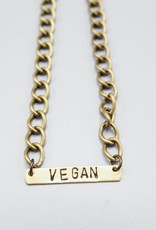 Vegan Bar Bracelet by Mishakaudi Jewelry