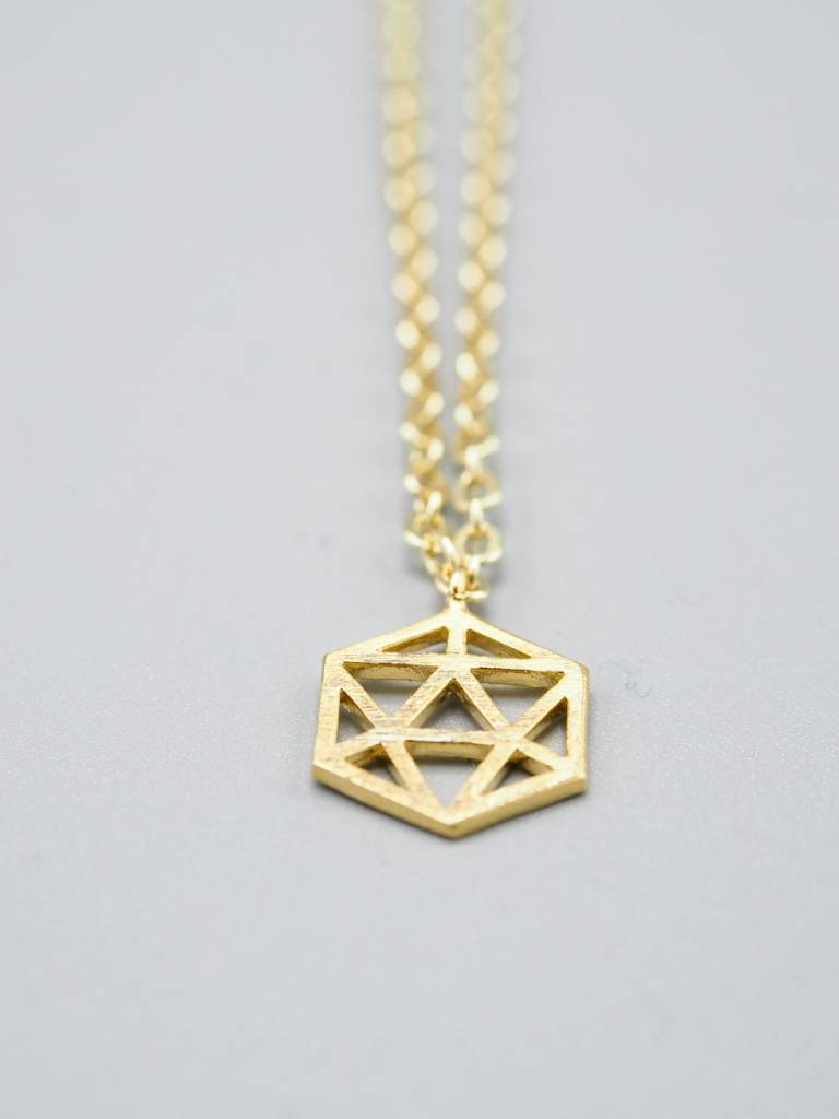 Small Hexagon Necklace by Mishakaudi