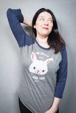 I'm Vegan and I Love You Bunny Unisex  Baseball Tee