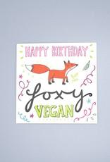 Happy Birthday Foxy Vegan Card