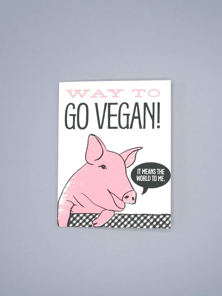 Way To Go Vegan! Card